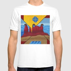 Monument Valley White MEDIUM Mens Fitted Tee
