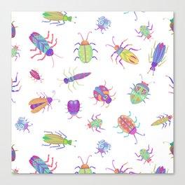 Pastel Color Bugs Canvas Print