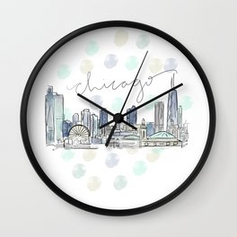 Chicago Skyline RER Wall Clock