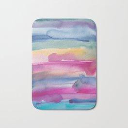 32    190907   Watercolor Abstract Painting Bath Mat