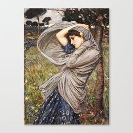 John William Waterhouse - Boreas Canvas Print