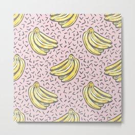 Go Bananas! (pink) Metal Print