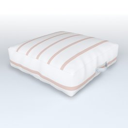 Millennial Pink Breton Stripes Outdoor Floor Cushion