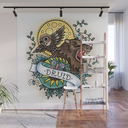 Druid - Vintage D&D Tattoo Wall Mural