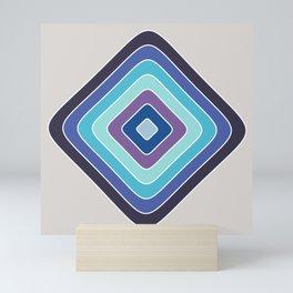 Blue Soft Square Abstract Mini Art Print