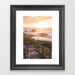 Sunset At Sutro Baths - San Francisco, CA Framed Art Print