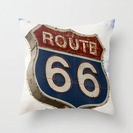 U.S. Route 66  Throw Pillow