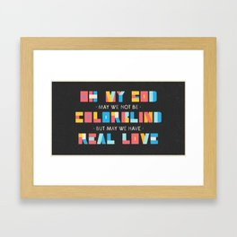 Real Love Framed Art Print