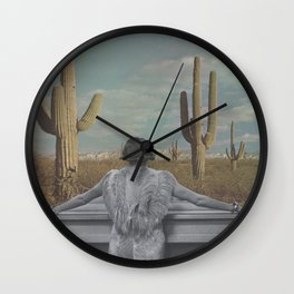The Cactus View Wall Clock