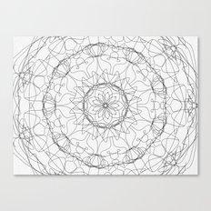the fountain - floral mandala Canvas Print