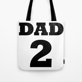 Dad 2 Children Funny Father Day Gift Tote Bag
