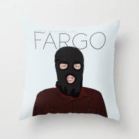 fargo Throw Pillows featuring Fargo by JayHerron