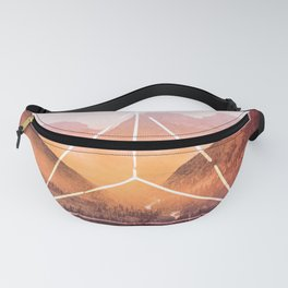 The Elements Geometric Nature Element of Fire Fanny Pack