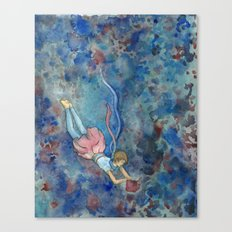 Readers Blue Canvas Print