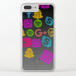 Social Me Clear iPhone Case
