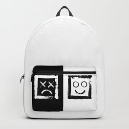 Happiness versus depression. #print Backpack