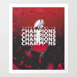 SB LV: Bucs Champions Art Print