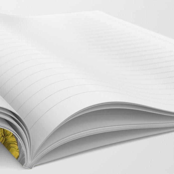 Daffodil Daze - yellow & grey daffodil illustration pattern Notebook