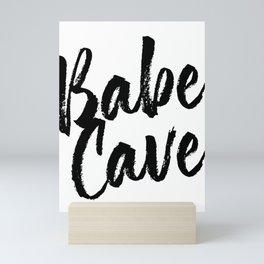 Babe Cave Bold Script Mini Art Print