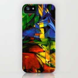 Deers in Wood by Franz Marc iPhone Case