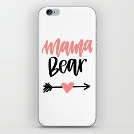Mama Bear Handlettered Design iPhone Skin