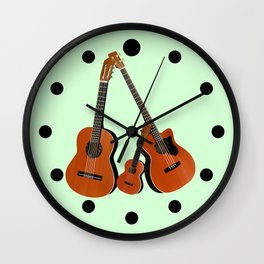 Acoustic instruments Wall Clock
