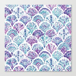 CORAL CAMO Mystical Purple Mermaid Scales Canvas Print