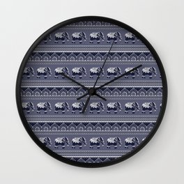 Ethnic pattern/ Elephants Wall Clock
