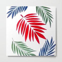 5 Palm Leaves Metal Print