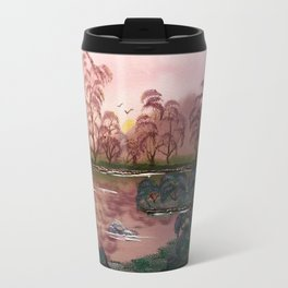 Pink Pond Evening Travel Mug