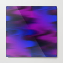 Keep It Wavy (Blue, Black, Purple) Metal Print