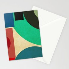 geometric mess Stationery Cards