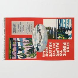 Vintage poster - Hellgate Bridge Rug