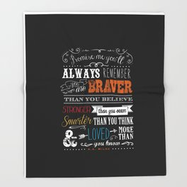 Promise me this Throw Blanket