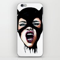 scream iPhone & iPod Skins featuring Scream by Bella Harris