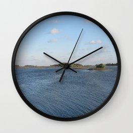 roadside river Wall Clock