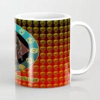 baphomet Mugs featuring Baphomet and horoscope by kuuma