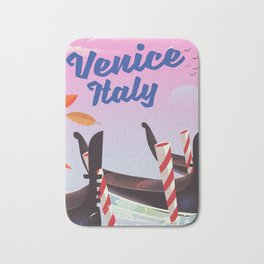 Venice Italy Travel poster Bath Mat