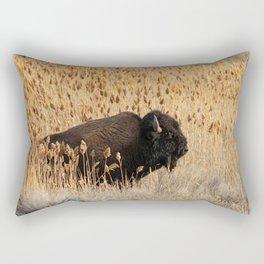Bison - Antelope Island, Great Salt Lake, Utah Rectangular Pillow