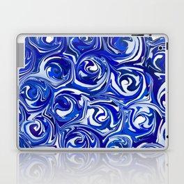 China Blue Paint Swirls Laptop & iPad Skin