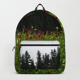 Mount Rainier Wildflower Adventure III - Pacific Northwest Mountain Forest Wanderlust Backpack