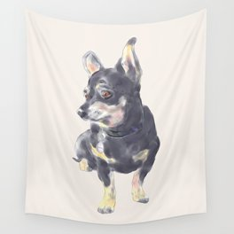 Little Dog Waiting Wall Tapestry