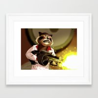 rocket racoon Framed Art Prints featuring Rocket Racoon by mikekimart
