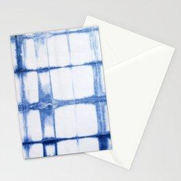 Shibori Blue - Rectangles Stationery Cards