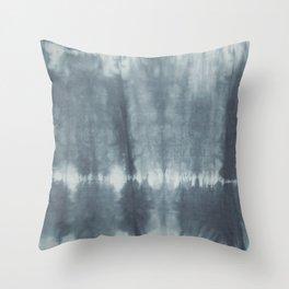 Tye Dye Gray Throw Pillow