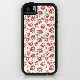 Magenta Bubble Flowers iPhone Case