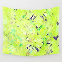 wallpaper Wall Tapestries featuring Vintage Wallpaper by Raluca Ag