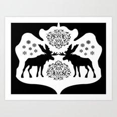 Rorschach Inkblot Art Print