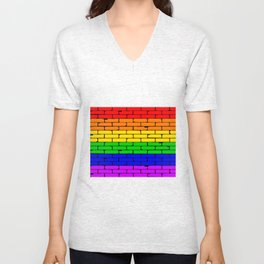 Transexual Rainbow Wall Unisex V-Neck