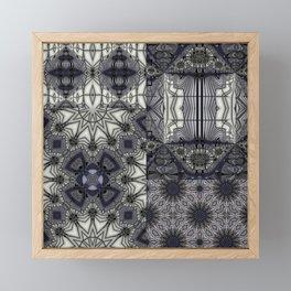 Black Rum Glass Collage Framed Mini Art Print